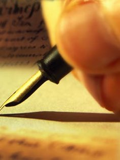 Image of writng linked to my blog page